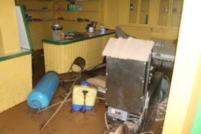 Damage cause by flash Flood in the Vermont Community on 24 and 25th December 2013.