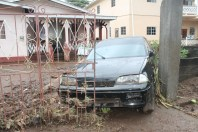 Damage cause by flash Flood in the Buccament Community on 24 thand 25th December 2013.