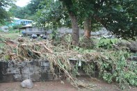 Damage cause by flash Flood in the Cane Grove Community on 24 and 25th December 2013.