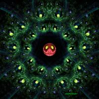 Cosmic Red Lizard mandala