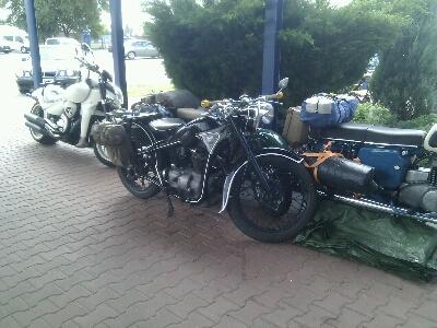 Harley's zwischen unseren Oldtimern