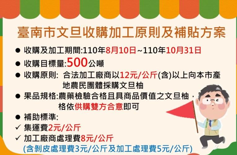 黃偉哲力挺台南文旦 說明台南文旦收購加工原則及補貼方案