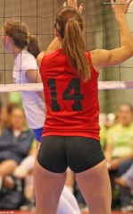 Tight spandex volleyball shorts