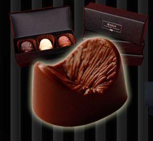 Eetbare anus chocola