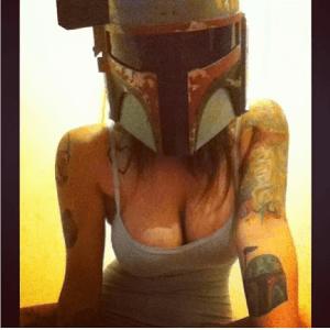 Meisjes die aan Star Wars cosplay doen (=sexy)