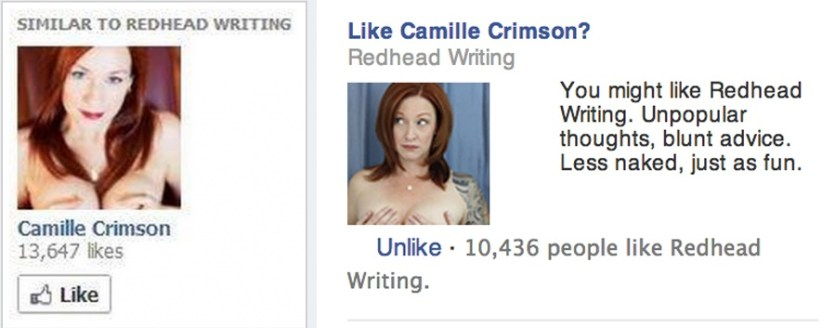 redhead writing ad comparison