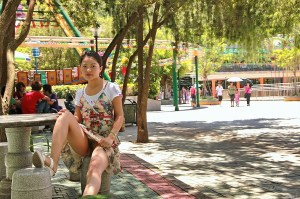 Chinese Female Public Flasher At Amusement Park Flashing Her Hairy Pussy www.GutterUncensored.com 008