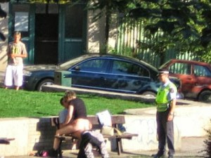 Couple Caught Having Sex In Public Park 8888
