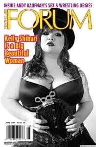 Kelly Shibari is het eerste BBW model op de cover van Penthouse