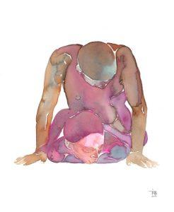 Erotische waterverfschilderijen van Tina Maria Elena