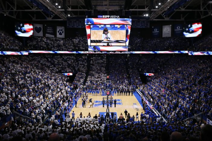 Rupp Arena currently seats 23,000 fans.