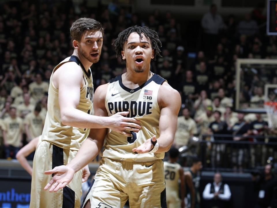 Purdue Upsets Michigan State Basketball Boilermakers End No 6 Spartans 21 Game Big Ten Win