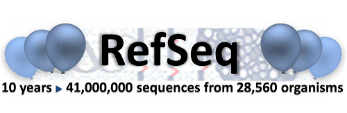 RefSeq 10 years logo
