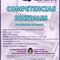 Taller de competencias digitales con enfoque de género en el NCC de Ahigal