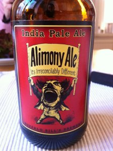 Bottle of Alimony Ale