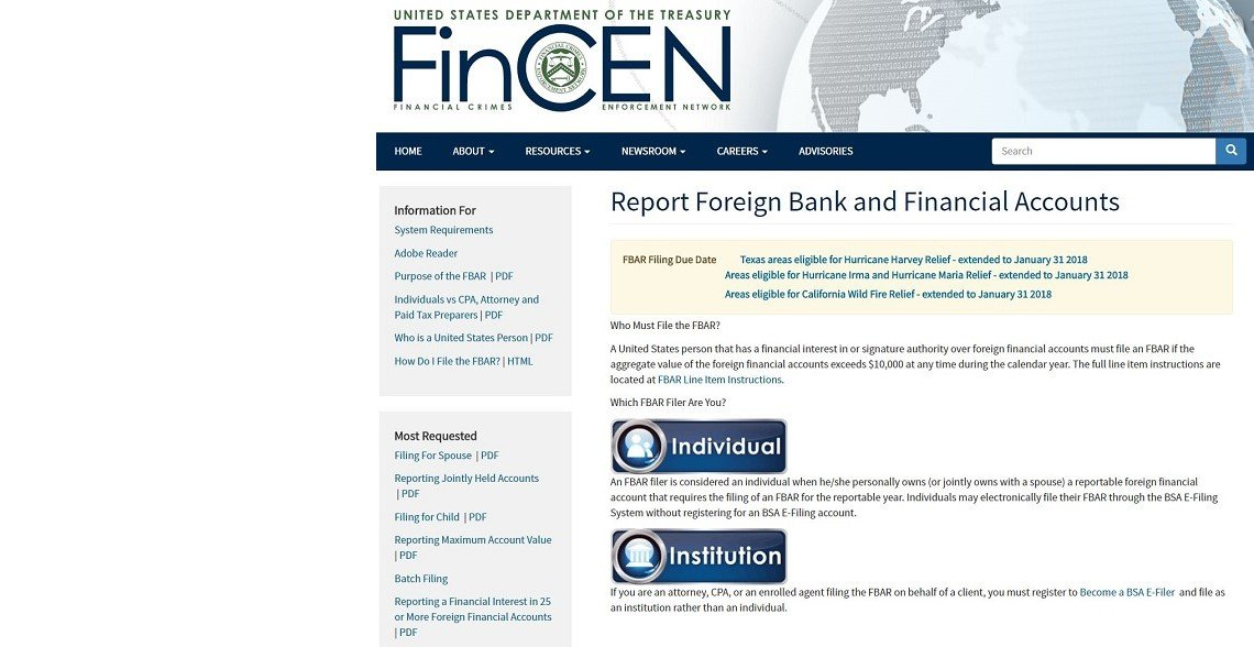 Foreign Financial Filing Due Fincen 114 Edmundson Cpa Pllc
