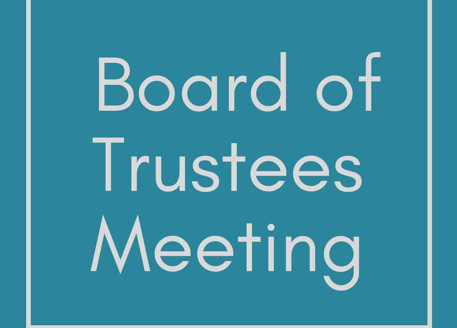 Board of Trustee's Meeting