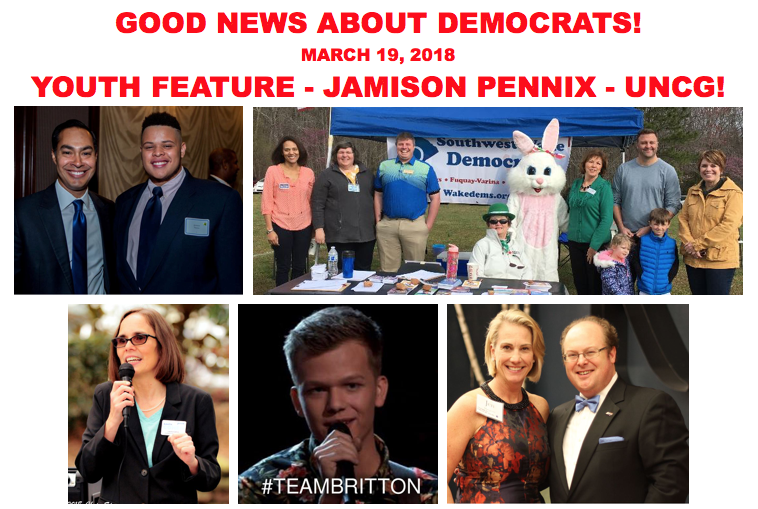 Good News About Democrats – March 19, 2018