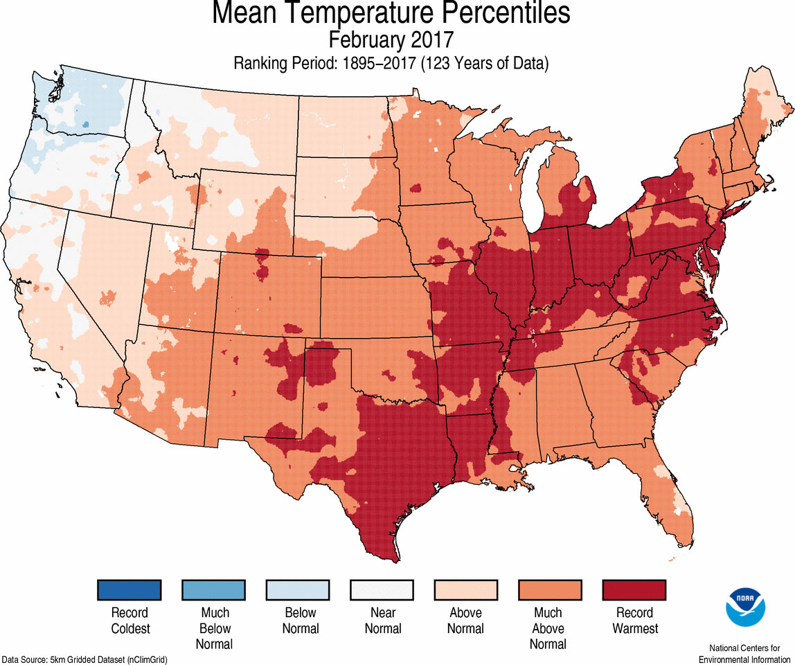 Assessing The U S Climate In February