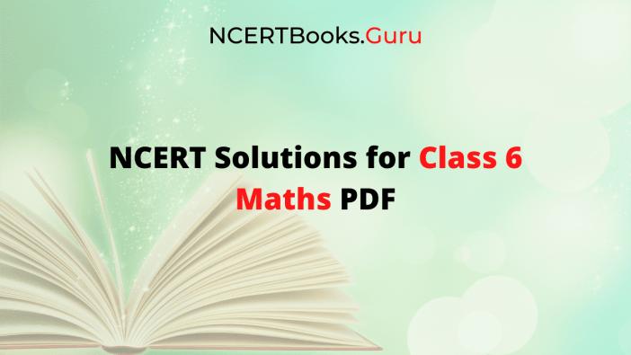 NCERT Solutions for Class 6 Maths PDF