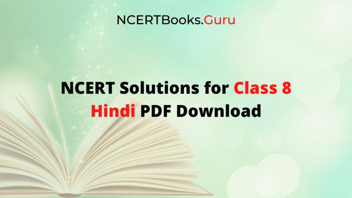 NCERT Solutions for Class 8 Hindi Vasant, Doorva PDF Download
