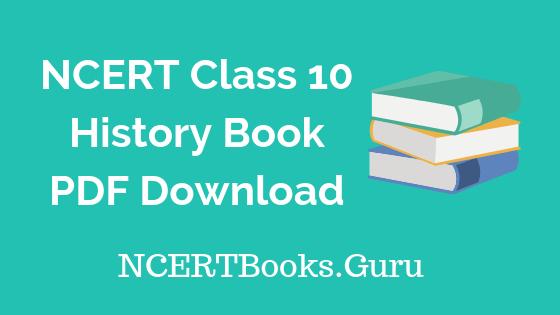 NCERT Class 10 History Books PDF Download