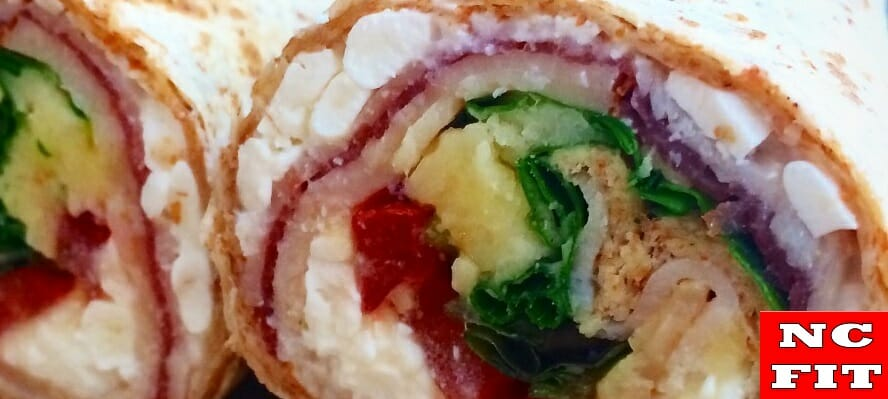 Volkoren wraps met kip & cottage cheese