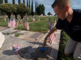 Boy Honors Veterans