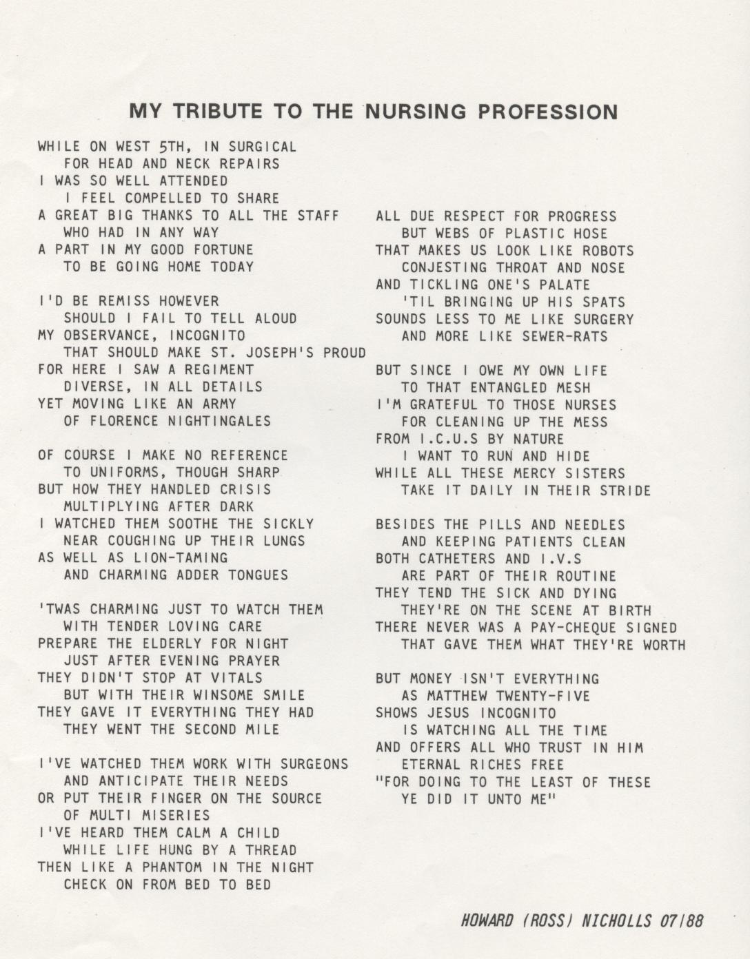 Cna Inspirational Poems