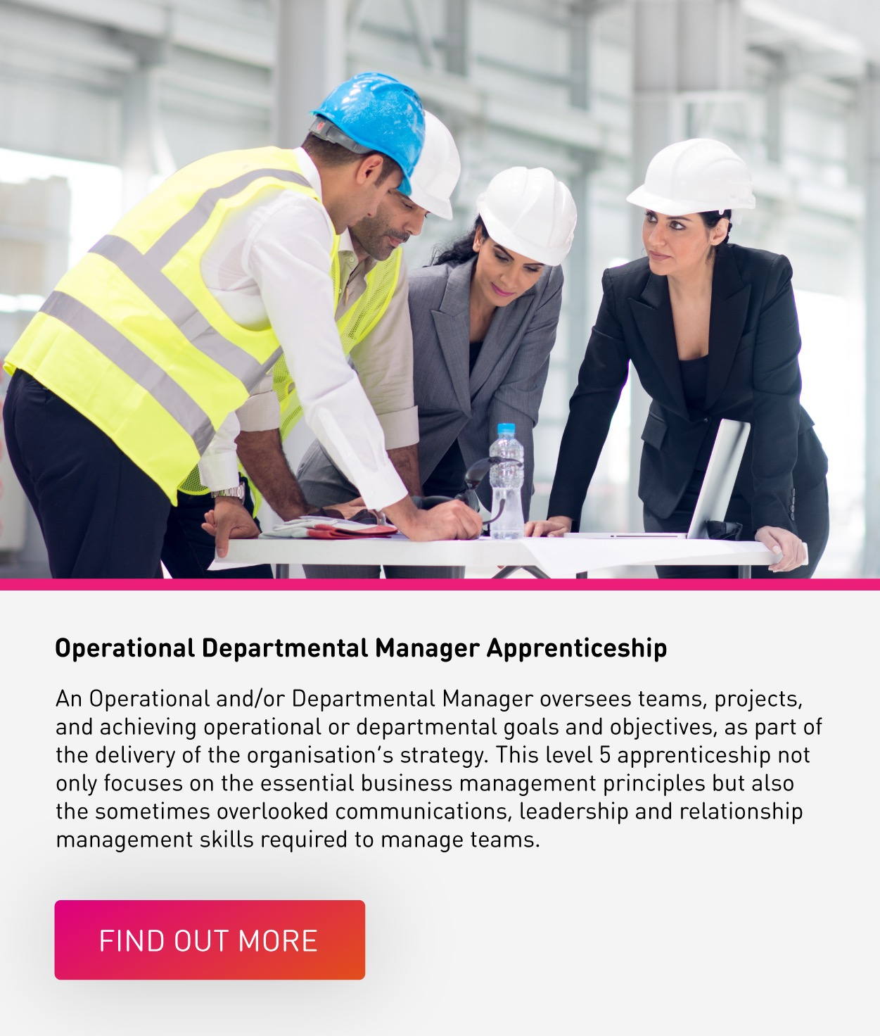 operational/departmental manager apprenticeship