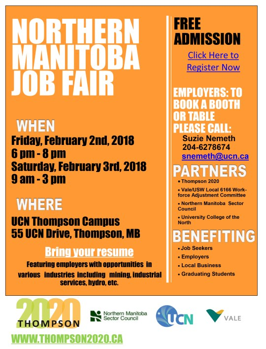 Northern Manitoba Job Fair Poster