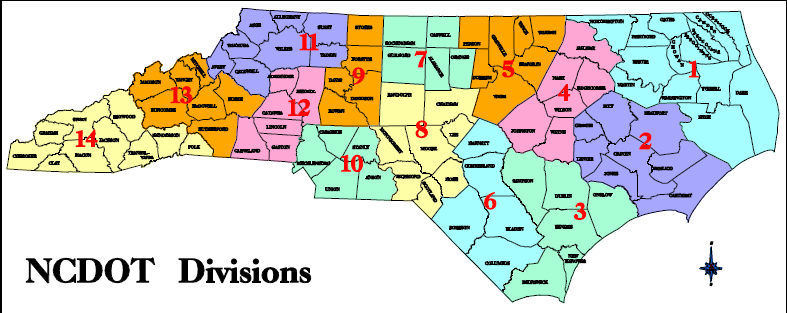 Map North Carolina Emergency Management Division