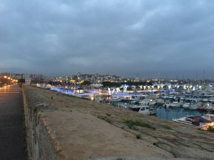 Port Vauban at dusk