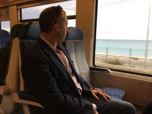 Johnnie Bud taking in the great view on the train