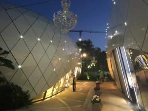 Luxe shopping designer boutique village in Monaco
