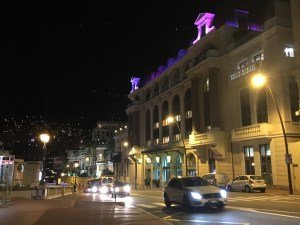 Streets of Monaco at night