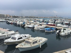 Boats docked in Antibes