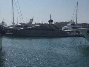 """""""Midnight Sun"""" yacht in Port Vauban"""