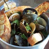 Steamed clams at Whiskey Kitchen