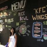 Chalkboard wall at M Kokko