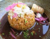 Crab mofongo at soca