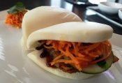 Pork belly buns at CO in Raleigh