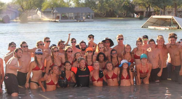 San Diego State University - 2016 Nationals - Team Pic in Water