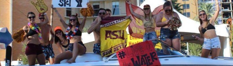 Arizona State Water Ski Team in Homecoming Parade 2016