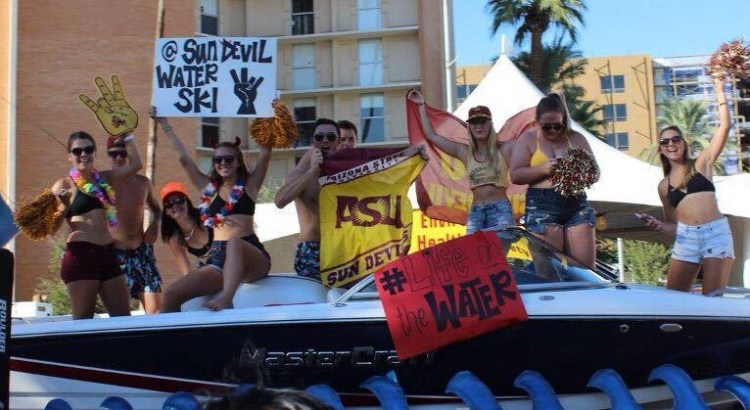 Arizona State Water Ski Team in Homecoming Parade 2016
