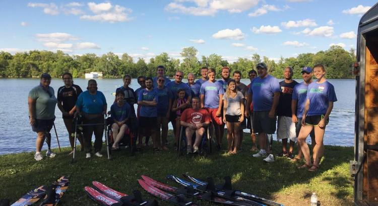University of Cincinnati Water Ski Team at Ampuski