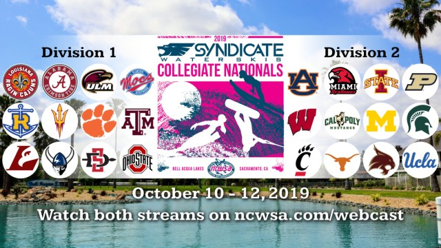 Syndicate Waterskis 2019 NCWSA Nationals Webcast