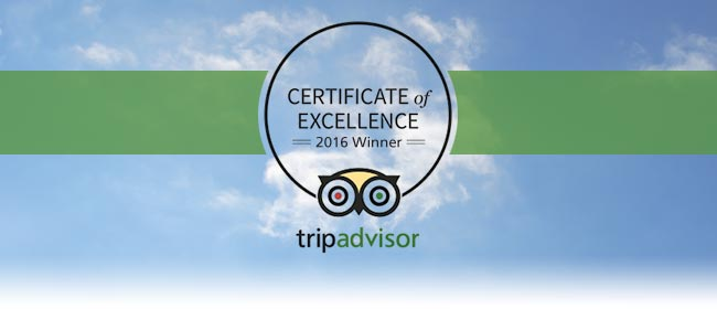 NDAC awarded 2016 Certificate of Excellence from TripAdvisor