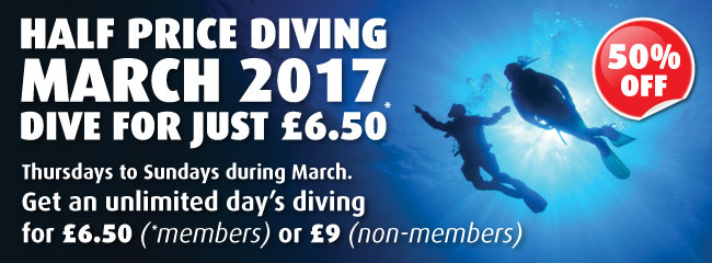 Half Price Scuba Diving at the NDAC Chepstow this March