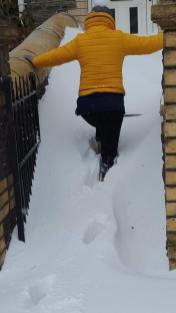 Carer in snow 3